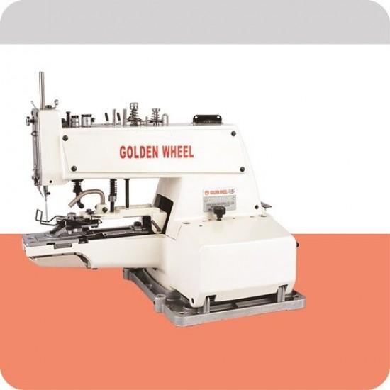 Golden Wheel Bıçaklı Düğme Dikiş Makinası